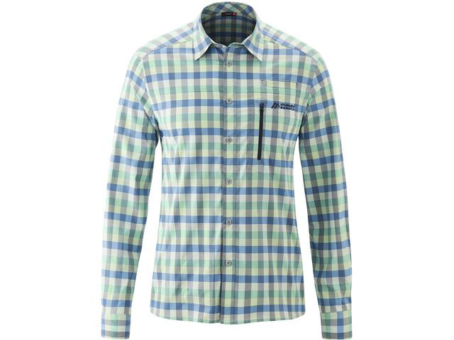 Maier Sports Mats T-shirt Manches longues Homme, green/antha check